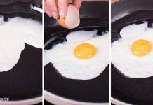Khi làm trứng ốp la, người ta thường đập thẳng trứng vào chảo, bao gồm cả lòng trắng và đỏ. Nhưng thực tế, để trứng ốp trông đẹp hơn, bạn nên lọc lòng trắng và đỏ riêng, sau đó rán lòng trắng trong vòng mộtphút trước. Sau đó, đổ lòng đỏ lên trên. Với cách này, lòng trắng sẽ được chín kỹ, lòng đào giữ được nguyên vị ngon và đĩa trứng ốp la còn trông rất đẹp mắt với lòng đỏ ở chính giữa.