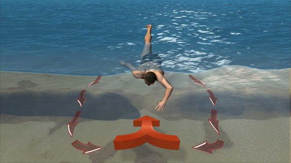 """Bí kíp thoát khỏi """"dòng nước tử thần"""" khi tắm biển 1"""
