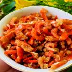 Tôm khô chế biến được khá nhiều món ăn ngon.
