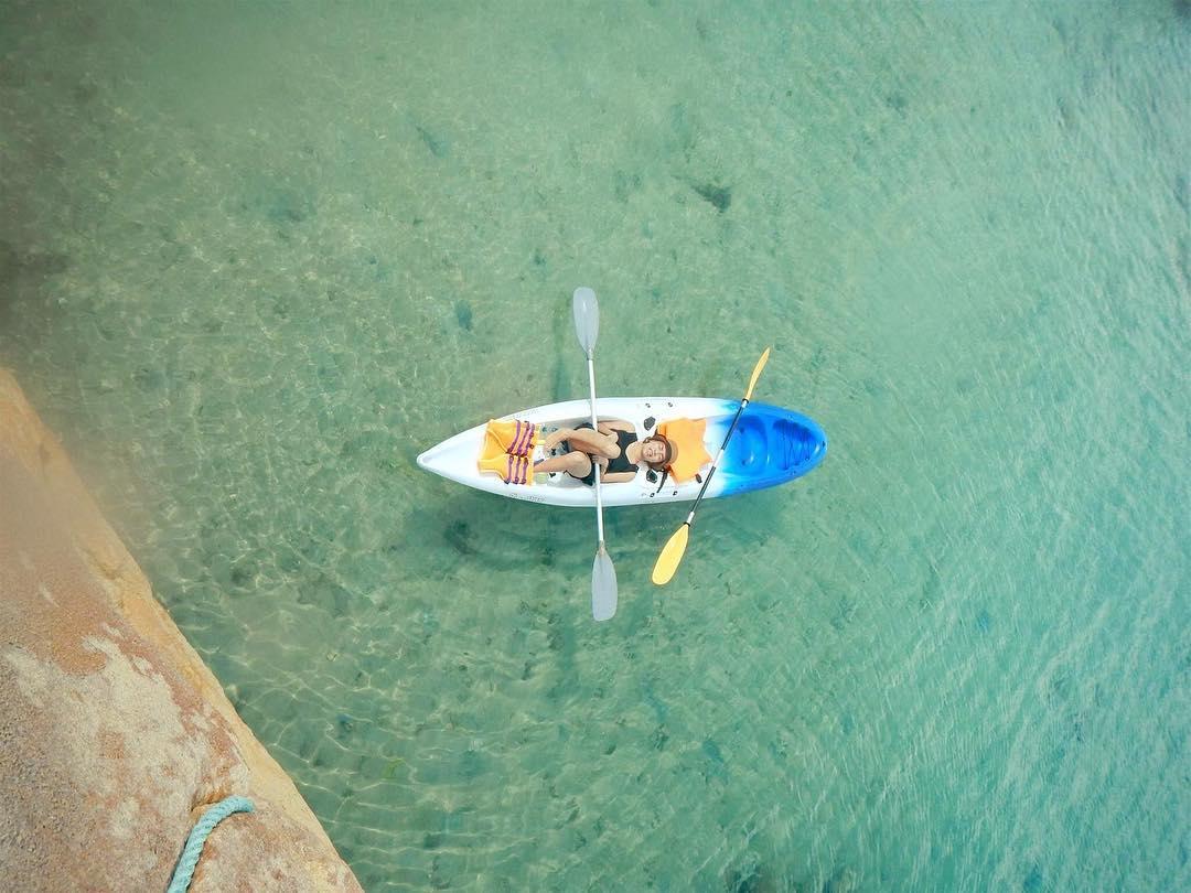 Du khách có nhiều trải nghiệm với thuyền Kayak - Ảnh: @sakura_vnxk