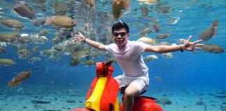 Dân du lịch Indonesia đổ xô đến sống ảo dưới nước tại ngôi làng có một không hai này - Ảnh 1.