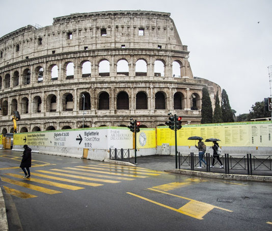 Tourist attractions across Italy have been deserted as visitors cancel their holidays due to coronavirusCredit: Rex Features Images of the Colosseum in Rome, a wonder of the world which has four million visitors a year, is now devoid of tourists. A sparse amount of travellers have been spotted walking around with umbrellas, but queues which are common are no longer there. The city is struggling with a tourism decline as more than 2,000 cases of coronavirus are confirmed across Italy - with Rome reporting their first cases earlier today. It follows a warning from the Foreign Office for Brits to avoid all but essential travel to ten regions in the north of the country, primarily in Lombardy and Italy, and many are told to self-isolate when returning to the UK. According to Italys tourism federation, Assoturismo, 90 per cent of hotel and package holiday bookings in Rome this month have been cancelled. It isnt just Rome that is struggling - Sicily has also seen a cancellation rate of 80 per cent.